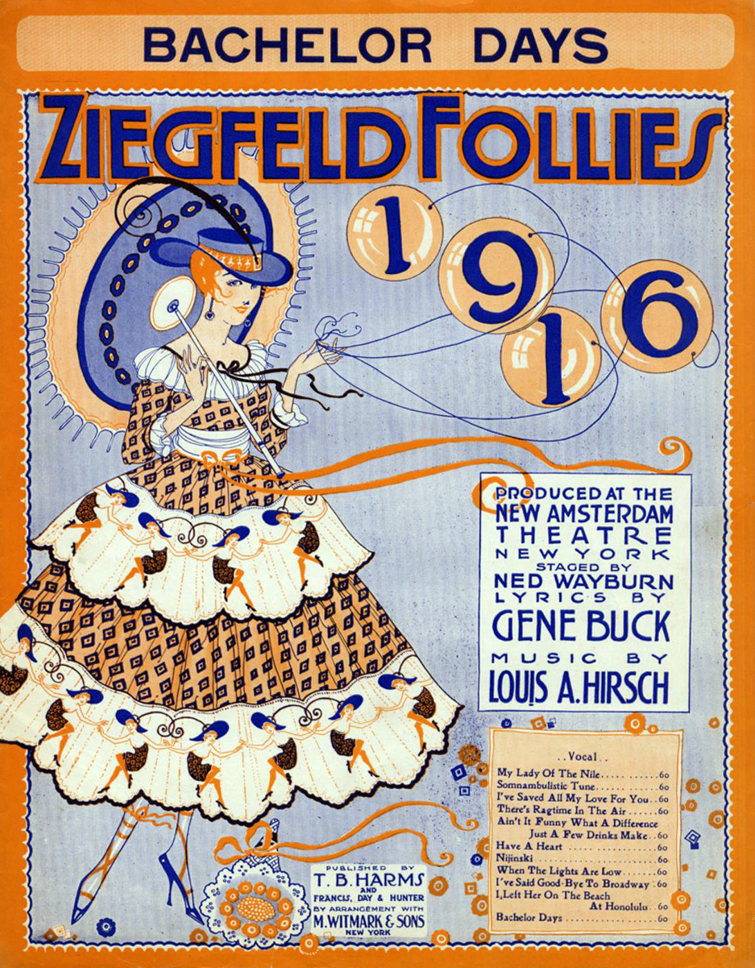 Ziegfeld Sheet Music - Ziegfeld Follies of 1916 (Bachelor Days)